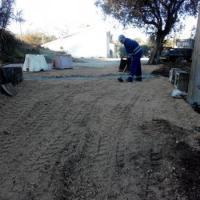 Eira Pedrinha - Capela, execução de caleira de água pluviais e arranjo de estrada